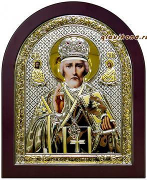 Владимирская, икона в серебре