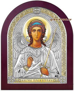 Ангел Хранитель икона в серебре