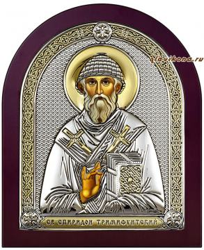 Спиридон - икона в серебре из Италии