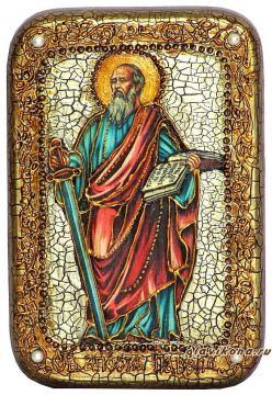 Павел Апостол (с мечом) икона подарочная 10х15 см