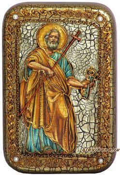 Петр Апостол (с ключом) икона подарочная 10х15 см
