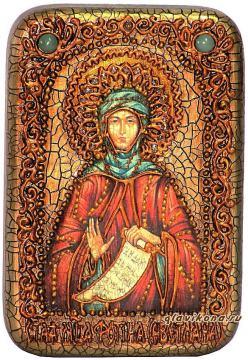 Святая Фотиния (Светлана) икона подарочная 10х15 см