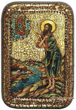 Алексий, человек Божий, подарочная икона на дубе, малая