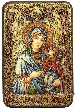 Анна, мать пресвятой Богородицы, подарочная икона на дубе, малая