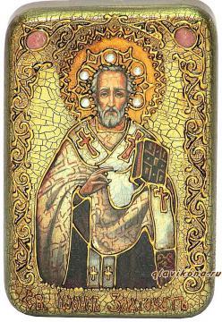 Иоанн Златоуст икона подарочная 10х15 см