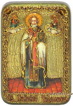 Николай Чудотворец (ростовой) икона подарочная 10х15 см