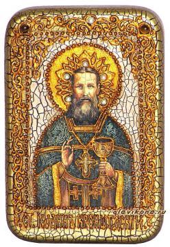 Иоанн Кронштадтский, подарочная икона на дубе, малая