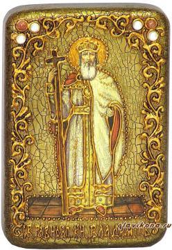 Владимир Князь (ростовой) икона подарочная 10х15 см
