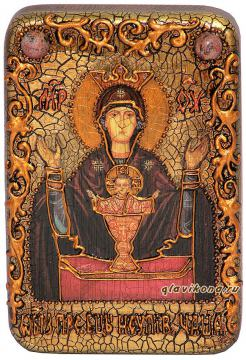 """Божия Матерь"""" Неупиваемая Чаша"""" икона подарочная 10х15 см"""