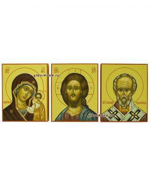 Триптих с тремя писанными иконами, артикул 433