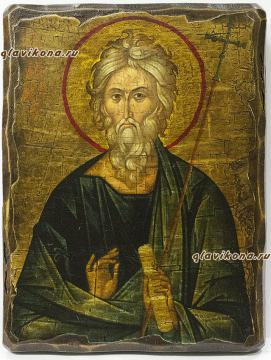 Икона апостола Андрея сделанная под старину
