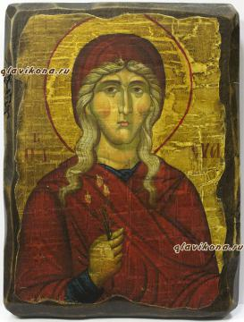 Икона Евы сделанная под старину
