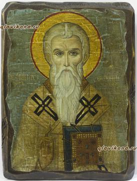 Состаренная икона Евгения