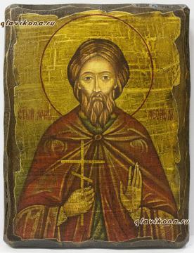 Икона под старину святого Леонида