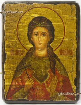 Икона под старину - мученица Любовь