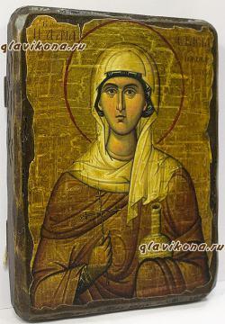 Анастасия Узорешительница, икона искусственно состаренная