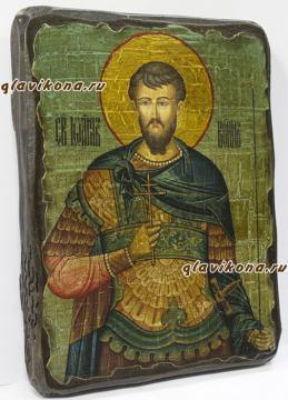 Икона Иоанна Воина: вид сбоку