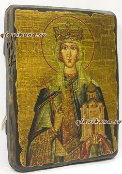 Икона Людмилы сделанная под старину