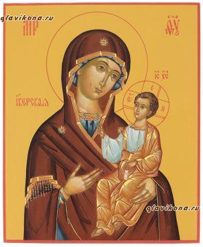 рукописная икона Иверская, артикул 279