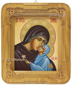 Киот с иконой праведной Анны