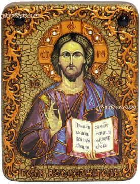 Икона Господа сделанная под старину