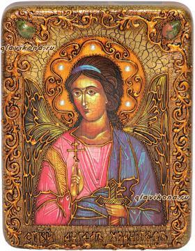 Ангел Хранитель, состаренная икона 15х20 см