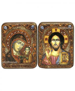 Венчальная пара икон сделанных под старину