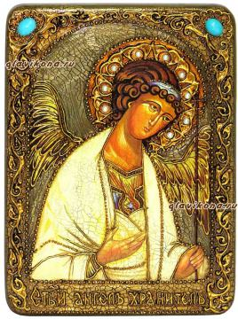 Ангел Хранитель. икона состаренная