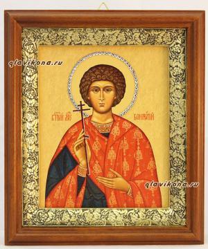 Вонифатий (Тарсийский, Римский), икона на холсте в широком киоте