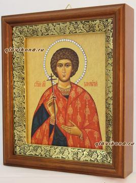 Вонифатий (Тарсийский, Римский), икона на холсте в широком киоте - вид сбоку