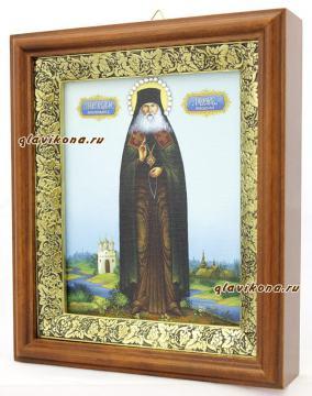 Гавриил Мелекесский, икона на холсте в широком киоте - вид сбоку