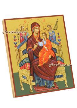 рукописная икона Всецарица, артикул 266 -  вид сбоку