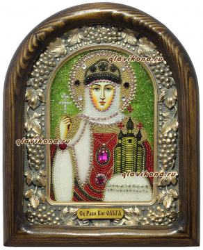 Ольга равноапостольная икона бисером