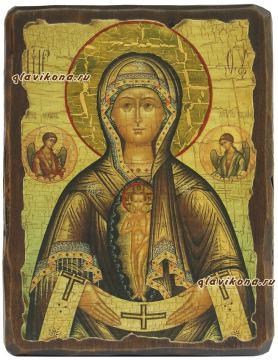 Помощница в родах, икона под старину
