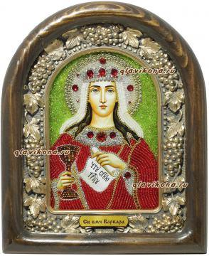 Святая великомученица Варвара икона бисером