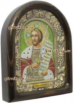 Вид иконы Александра Невского сбоку