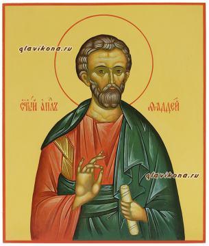 Рукописная икона апостола Фаддея 21х25 см
