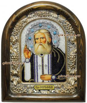икона Серафима Саровского бисером