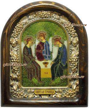 Троица, икона из бисера