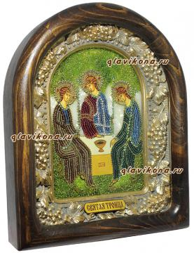Троица - вид иконы сбоку