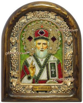 Икона Николая Чудотворца сделанная в Дивеево