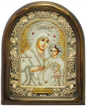 Божия Матерь Вифлеемская, икона из бисера