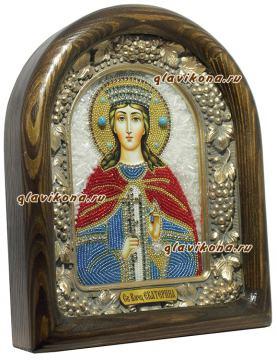 Вид иконы Екатерины сбоку