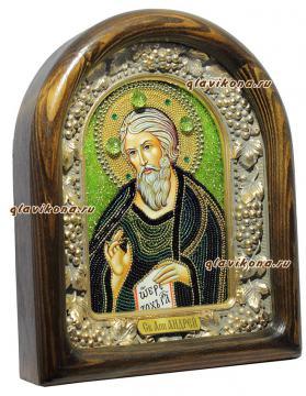 Вид иконы апостола Андрея сбоку
