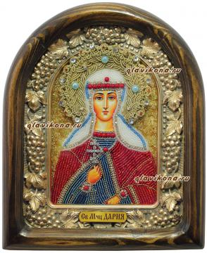 икона мученица Дария бисером