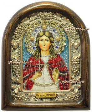 Святая Ирина, икона бисером