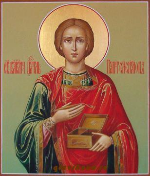 Икона целителя Пантелеймона заказать, артикул 522