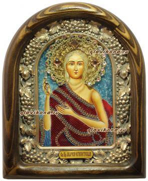Мария Египетская, икона бисером