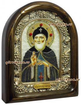 Александр Свирский - вид иконы сбоку