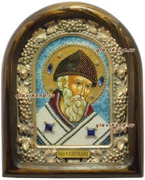 Спиридон Тримифунтский  - икона из бисера